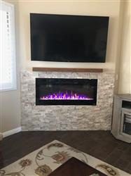 "Beverly W. verified customer review of Sideline 50 80004 50"" Recessed Electric Fireplace"