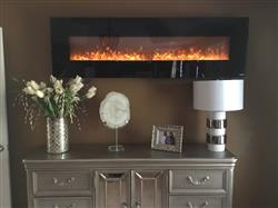 Sonya B. verified customer review of OnyxXL 80005 72 Wall Mounted Electric Fireplace