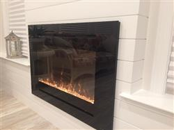 "SCOTT I. verified customer review of Forte 80006 40"" Recessed Electric Fireplace"