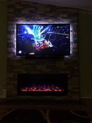 """jesse c. verified customer review of Sideline Steel 80013 50"""" Recessed Electric Fireplace"""