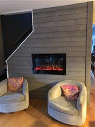 """Steven M. verified customer review of Sideline 36 80014 36"""" Recessed Electric Fireplace"""