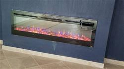 "Kim S. verified customer review of Sideline 72 80015 72"" Recessed Electric Fireplace"
