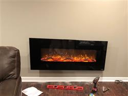 Dain F. verified customer review of Onyx 80001 Refurbished 50 Wall Mounted Electric Fireplace
