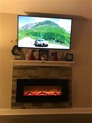 Odalis P. verified customer review of Onyx 80001 Refurbished 50 Wall Mounted Electric Fireplace