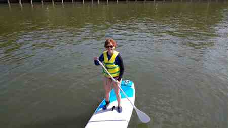 Cynde P. verified customer review of NEW - Cruiser SUP Crossover Air SL 10'2-11'6 Lightweight, Durable Inflatable SUP Package