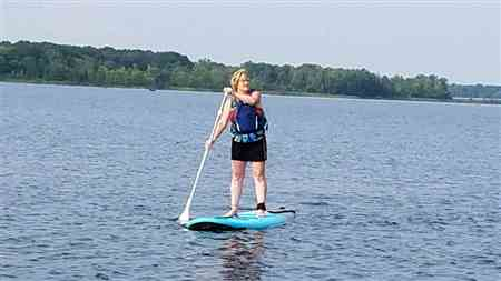 Brenda F. verified customer review of CruiserSUP® Performer Dura-Soft 9'8 - 11' Paddle Board Package