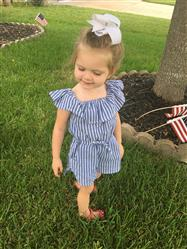 Crystal verified customer review of Gianna Stripes Romper
