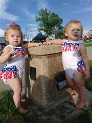 Kim verified customer review of American Flag Sunsuit