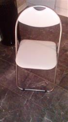 Padded Folding Chair - White
