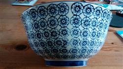 Nicola Spring Patterned Cereal Bowl - 152mm (6 Inches) - Blue Flower Print Design