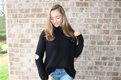 Anonymous verified customer review of It Takes Two Black Smocked Neck Sweater