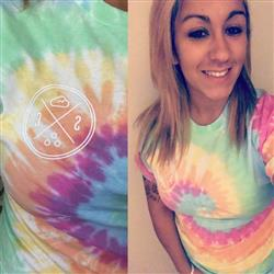 Maggie f. verified customer review of Short Sleeve Rainbow Tie Dye