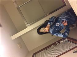 Xiuping C. verified customer review of Blue Acid Wash Sea Shell Sand Cloud Long Sleeve