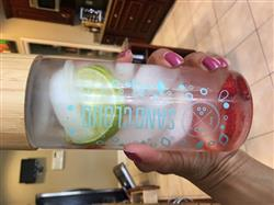 Mary M. verified customer review of Save The Fishies Water Bottle