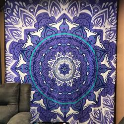 AShley B. verified customer review of Whale Tail Tapestry