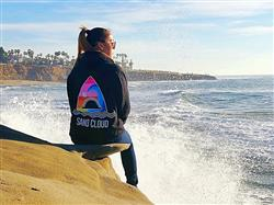 Ada Q. verified customer review of Shark Waves Black Hoodie