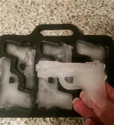 Monica R. verified customer review of Bullet and Gun Ice Cube Tray (Various Designs)
