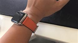 Ella C. verified customer review of Single Tour Leather Apple Watch Band