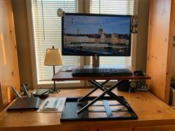 Carole P. verified customer review of X-ELITE Pro Standing Desk Converter