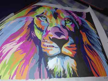 christian m. verified customer review of The Lion King - Van-Go Paint-By-Number Kit