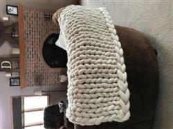 Diane D. verified customer review of Soft Undyed Merino Roving- 7lb Special for Knitted Blankets