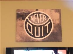 Eric F. verified customer review of Never Quit