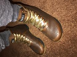 Emille H. verified customer review of Gold Leather Shoelaces