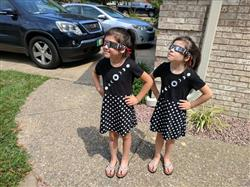Solar Eclipse Glow-in-the-Dark Kids Dress
