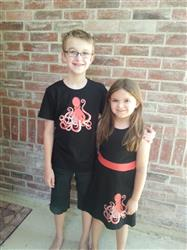 Lee L verified customer review of Octopus Glow-in-the-Dark Fit & Flare Kids Dress