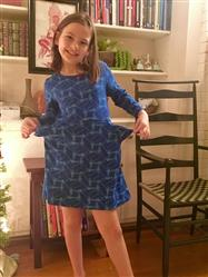 Kelly Hannum verified customer review of Voyager Spacecraft Fit & Flare Kids Dress
