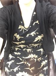 Anonymous verified customer review of Dinosaur Fossils Fit & Flare Dress