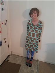 LAURA M MATHENY verified customer review of Mandala Pi Fit & Flare Kids Dress