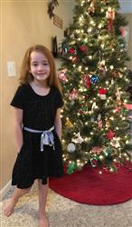 Sandy verified customer review of Constellations Glow-in-the-Dark Twirl Kids Dress