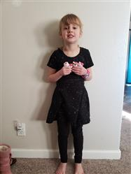 Stasha Hood verified customer review of Constellations Glow-in-the-Dark Twirl Kids Dress