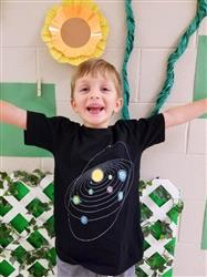 Retro Solar System Glow-in-the-Dark Kids T-Shirt