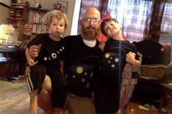 Sheri D Cornett verified customer review of Retro Solar System Glow-in-the-Dark Kids T-Shirt