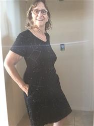 Pulelehua Quirk verified customer review of Constellations Glow-in-the-Dark Fit & Flare Dress