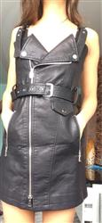 Suspenders PU leather dress