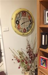 Krysia S. verified customer review of Casa Uno Cafe Metal Wall Clock, Yellow, 62cm