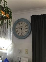Cindy R. verified customer review of Casa Uno London Roman Numerals Wall Clock, Antique Blue, 61cm