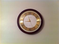 Cambridge Wood Gold Faced Wall Clock, 36cm
