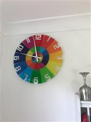 Rebecca O. verified customer review of NeXtime Rainbow Glass Wall Clock, 43cm