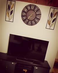 Clarisse A. verified customer review of Live Laugh Love Wooden Wall Clock, 60cm