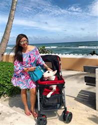 Carla R. verified customer review of PET ROVER™ Premium Stroller for Small/Medium/Large Dogs, Cats and Pets (Red)