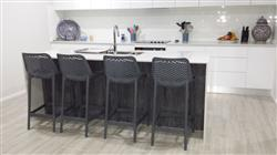 Diane M. verified customer review of Yorkshire Bar Stool 65cm Anthracite (Grey)
