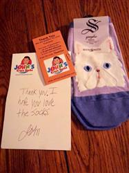 Theresa C. verified customer review of Purrfectly Persian Socks -- No Show Socks for Women