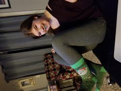 Donna Trpicovsky verified customer review of Don't Stop Believing Socks -- Knee High Socks for Women
