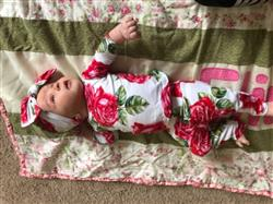 Stephanie S. verified customer review of Dolce Red Rose Loungewear