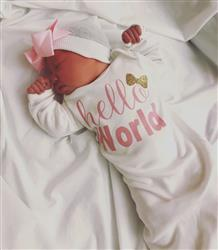 Karina A. verified customer review of Hello World Baby Newborn Layette Gown