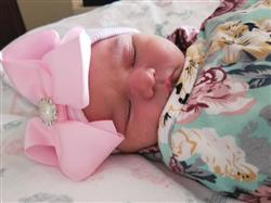 Stephanie M. verified customer review of Navy Blue Floral Swaddle Set
